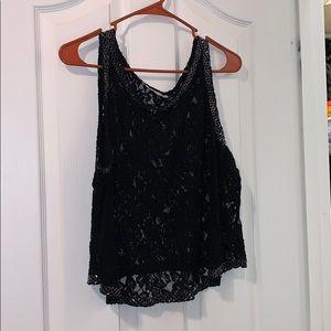 Jlo black lace tank top